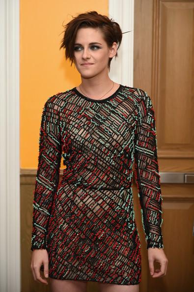Kristen Stewart New Haircut Mocha Colored