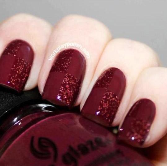 Burgundy Nail Arts