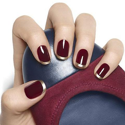 Burgundy Nail Art Design Ideas