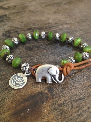 Elephant and Silver Lotus