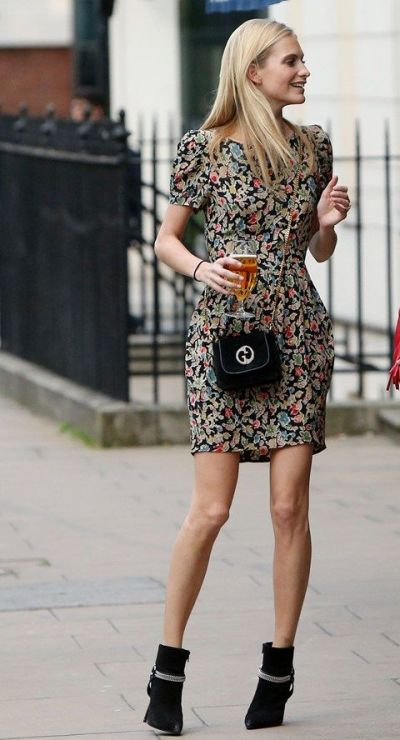 Poppy Vintage dress and ankle boots