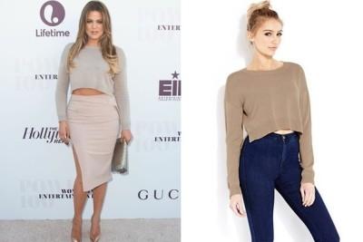Khloe Kardashian's Cropped Sweater
