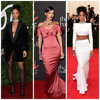 Adorable Rihanna Dresses On The Red Carpet Moment