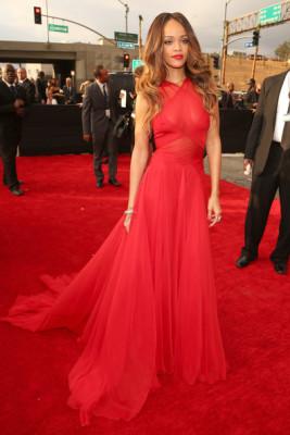 Rihanna Evening Red Dress