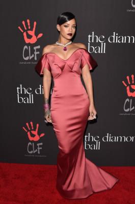Rihanna Off-the-Shoulder Dress