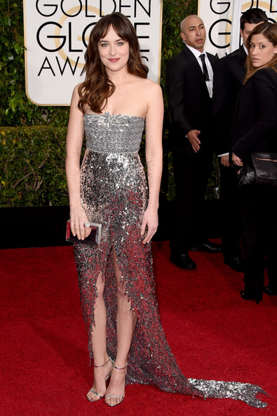 Dakota Johnson Strapless Dress