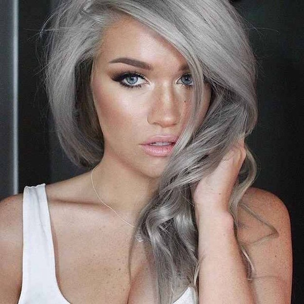 2015 Trend Gray Hairstyle For Spring/Summer