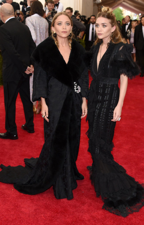 Mary-Kate-Ashley-Olsen at Met Gala 2015