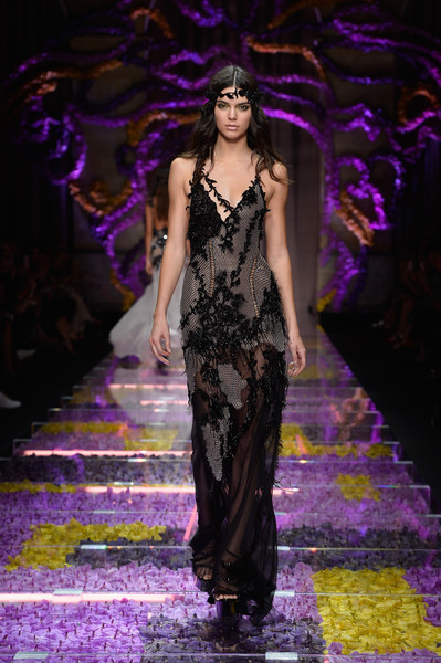 Kendall Jenner walks the runway during the Atelier Versace show