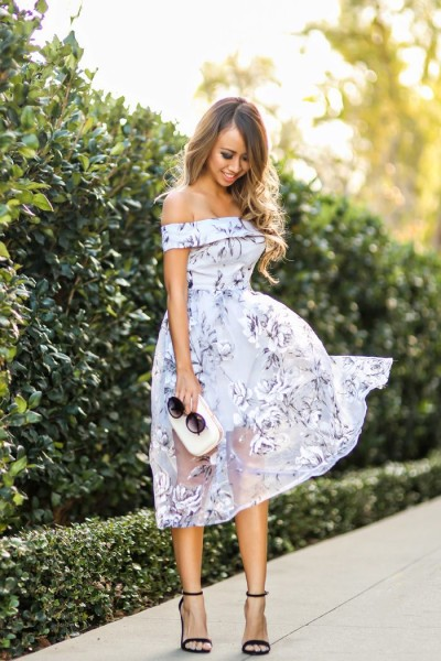 Floral Dress For Wedding Guest Outfit
