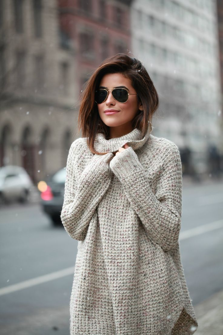 How to Wear Outfit With Turtleneck Sweater For Winter