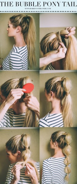bubble ponytail | Hairstyle Inspirations For Rainy Day