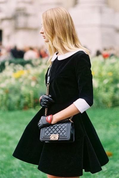 Dark Velvet Dress