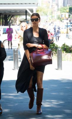 Irina Shayk Leather Tote by Givenchy