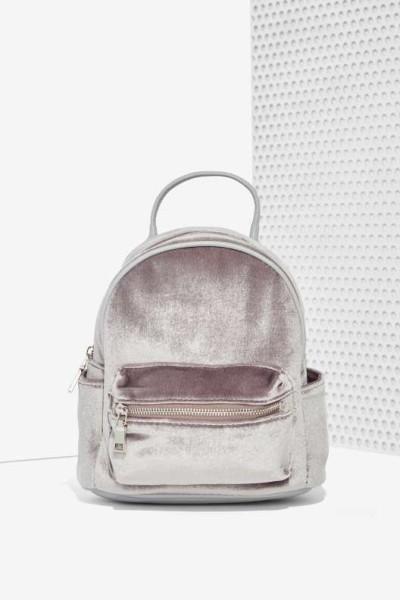 Margot Velvet Mini Backpack