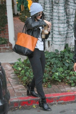 Vanessa Hudgens Leather Tote