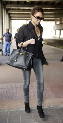 Victoria Beckham Leather Tote by Birkin Hermes