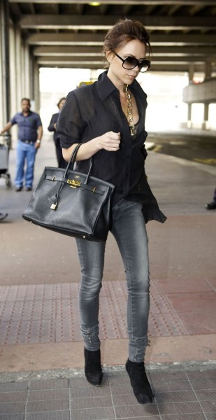 Victoria Beckham Leather Tote by Birkin Hermes