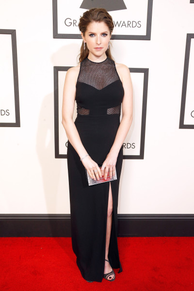 LOS ANGELES, CA - FEBRUARY 15:  Actress Anna Kendrick attends The 58th GRAMMY Awards at Staples Center on February 15, 2016 in Los Angeles, California.  (Photo by Jeff Vespa/WireImage)
