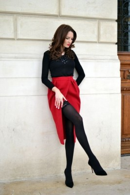 Black and Red valentine Outfit