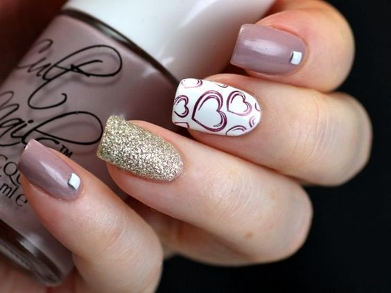Cute Valentine Nail Art Designs to make your valentines' day much more memorable.