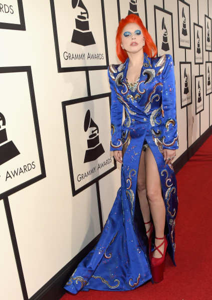 LOS ANGELES, CA - FEBRUARY 15:  Singer Lady Gaga attends The 58th GRAMMY Awards at Staples Center on February 15, 2016 in Los Angeles, California.  (Photo by Larry Busacca/Getty Images for NARAS)
