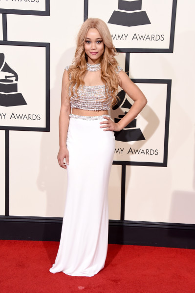 LOS ANGELES, CA - FEBRUARY 15:  Singer Marcy attends The 58th GRAMMY Awards at Staples Center on February 15, 2016 in Los Angeles, California.  (Photo by Steve Granitz/WireImage)