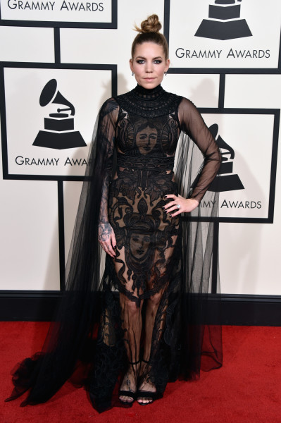 LOS ANGELES, CA - FEBRUARY 15:  Recording artist Skylar Grey attends The 58th GRAMMY Awards at Staples Center on February 15, 2016 in Los Angeles, California.  (Photo by John Shearer/WireImage)
