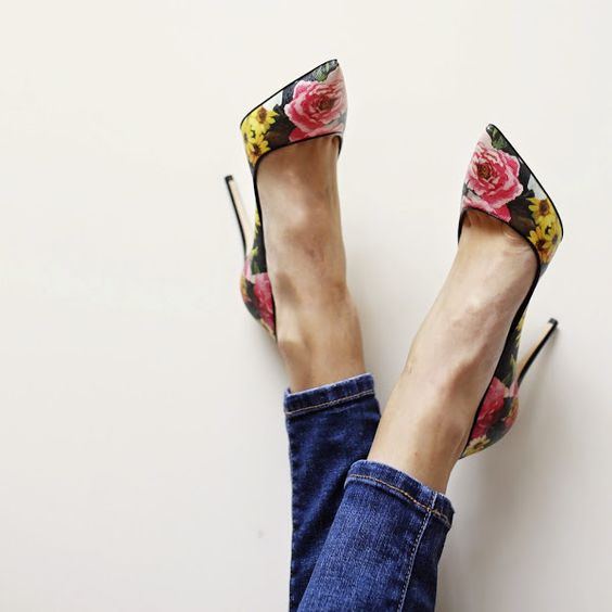 2016 Trend Floral Heels For Your Spring Outfit