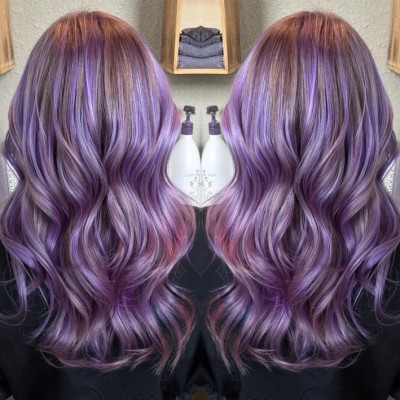 long-wavy-pastel-purple-hairstyle