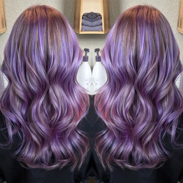 long-wavy-pastel-purple-hairstyle