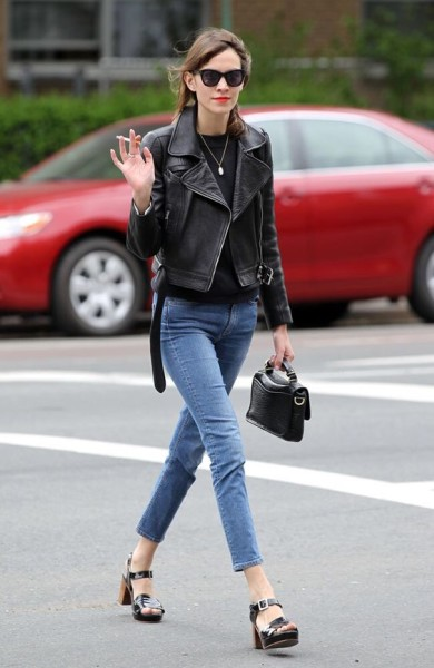 Alexa Chung Street Style: Be Casual And Cool via About.com
