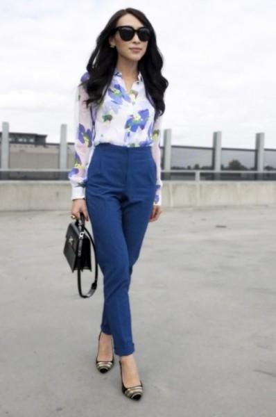 A floral print blouse