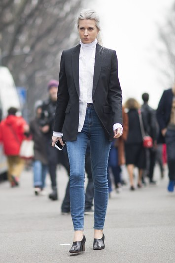 For a more casual office environment, go for denim this spring