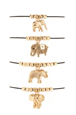 Forever 21 Beaded Elephant Bracelet Set $5.90