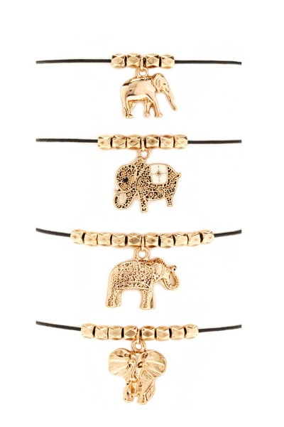 Forever 21 Beaded Elephant Bracelet Set $5.90