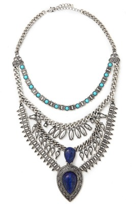 Forever 21 Faux Stone Statement Necklace $19.90