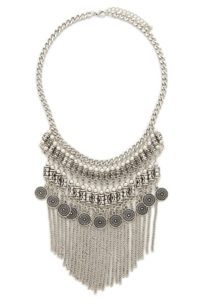 Forever 21 Fringe Statement Necklace $12.90