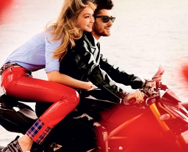 Gigi Hadid and Zayn Malik Romantic Kiss For 'Vogue'_