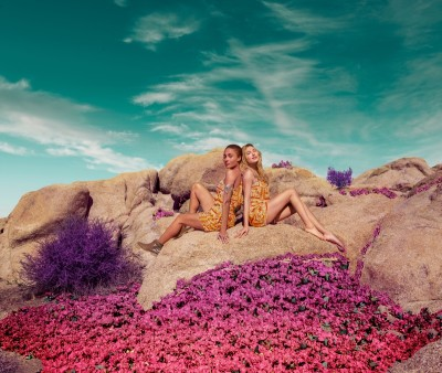Hailey Baldwin and Adwoa Aboah star in H&M Loves Coachella 2016 campaign