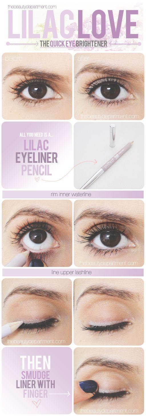 Lilac eyeliner