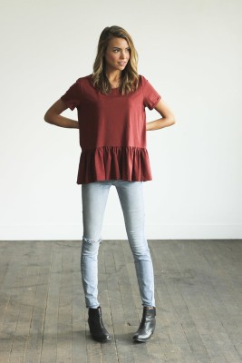 Trend Peplum Tee For Your Casual Outfits