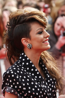 Cher Lloyd opted for a punk-meets-retro look with this fauxhawk.