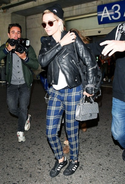 Kristen Stewart's style has always leaned toward the edgier side, but this punk-inspired look contains pieces that are elevated enough to make this outfit approachable to everyone.