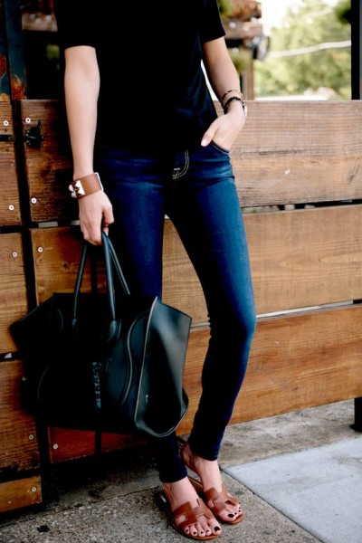 Casual Style with Hermes Sandals