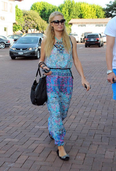 Paris Hilton and boyfriend River Viiperi seen at Tony's Tavern Restaurant in Malibu.