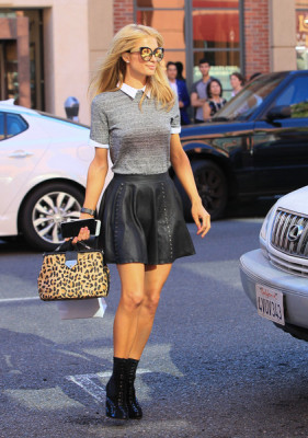 Paris Hilton is seen out shopping in Beverly Hills.