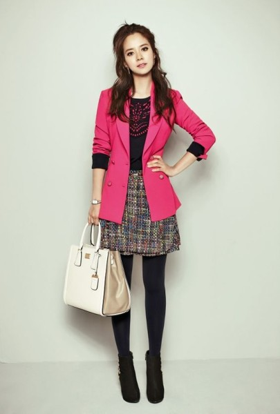 Song Ji Hyo Mixes It Up With Prints, Patterns, Color For YESSE's Fall 2013 Campaign - Couch Kimchi