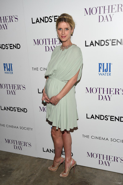 Nicky Hilton dressed up her baby bump in this draped mint-green Valentino number for the screening of 'Mother's Day.'