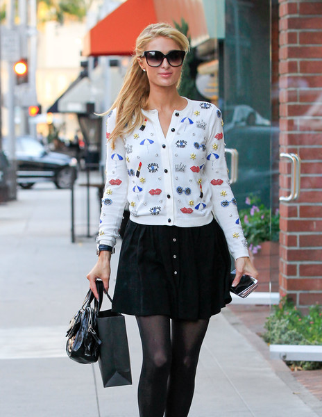 Paris Hilton sported a pair of oversized sunnies by Dita while out and about in Beverly Hills.
